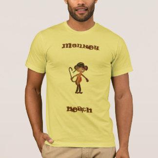 猿のビーチ米国東部標準時刻2011®のTシャツ Tシャツ