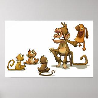 猿の人形劇 ポスター