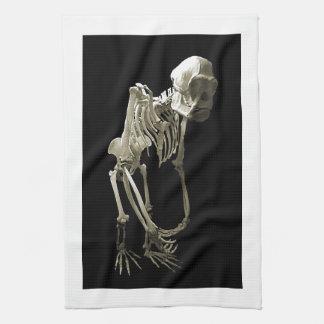 猿の体の骨 キッチンタオル