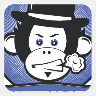 猿の分隊ショー スクエアシール
