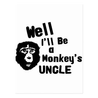 猿の叔父さん ポストカード