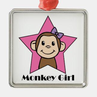 猿の女の子 メタルオーナメント