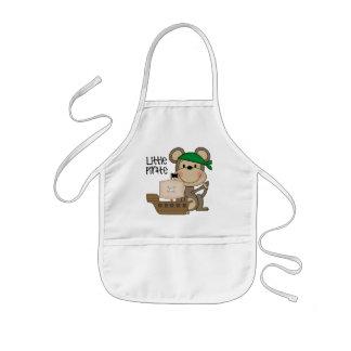 猿の小さい海賊Tシャツおよびギフト 子供用エプロン