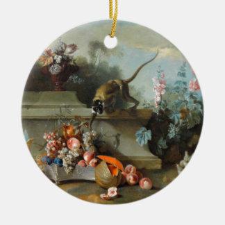 猿の年のロココ様式の絵画 セラミックオーナメント