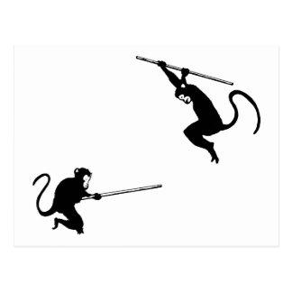 猿の戦い 葉書き