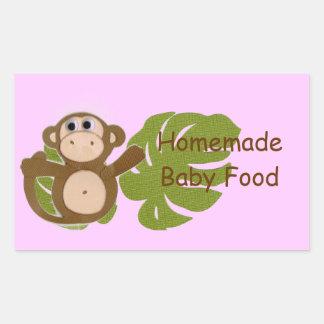 猿の手製のベビーのフルーツ野菜の食糧ラベル 長方形シール