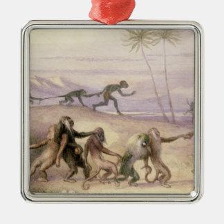猿の方法そして習慣 メタルオーナメント