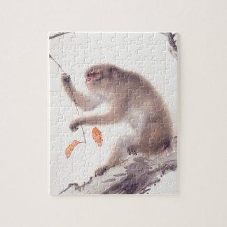 猿の日本のな絵画-猿2016年の年 ジグソーパズル