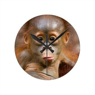 猿の時計 ラウンド壁時計