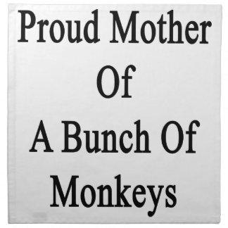 猿の束の誇り高い母 ナプキンクロス