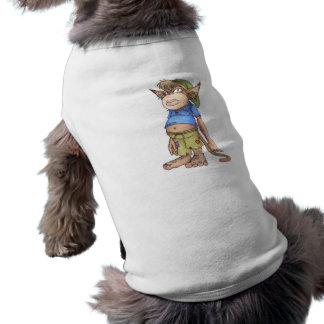 猿の格言の小犬タンクを吸う邪悪なつま先 ペット服