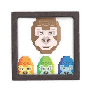 猿の様式化されたアイコン ギフトボックス