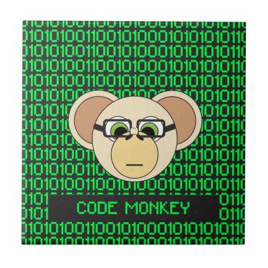 猿の漫画動物プログラマーコーダーのジャングルをコードして下さい タイル