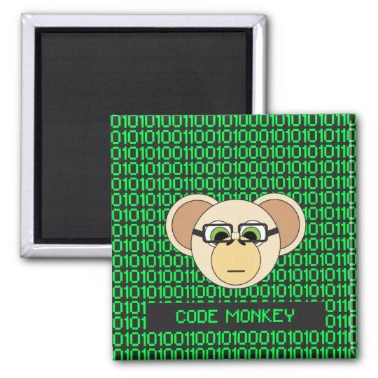 猿の漫画動物プログラマーコーダーのジャングルをコードして下さい マグネット