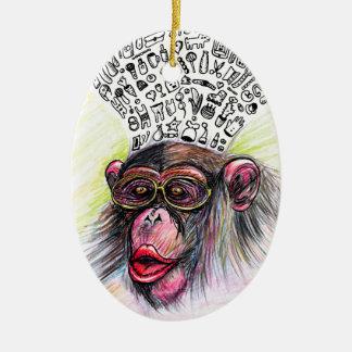 猿の爆発。 女性 セラミックオーナメント
