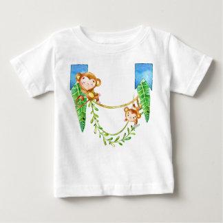 猿の男の子 ベビーTシャツ