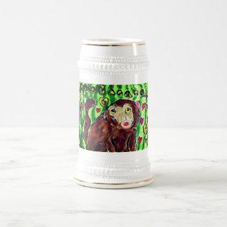 猿の芸術 ビールジョッキ