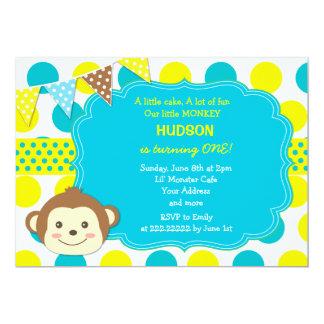 猿の誕生日の招待状 カード