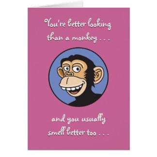 猿の誕生日よりよくして下さい カード