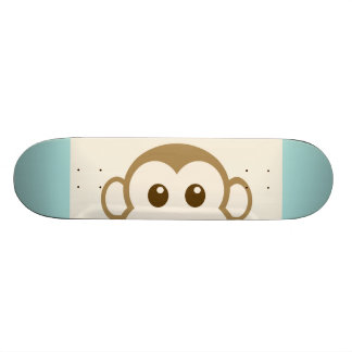 猿の顔のベクトル芸術 スケートボード
