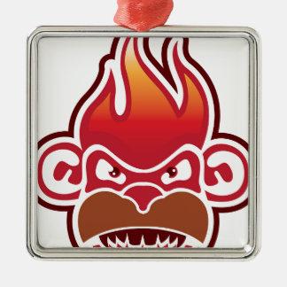猿の顔のロゴのベクトル メタルオーナメント