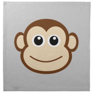 猿の顔の漫画 ナプキンクロス