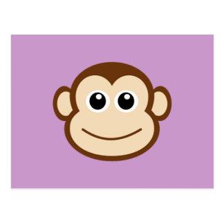 猿の顔の漫画 ポストカード