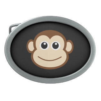 猿の顔の漫画 卵形バックル