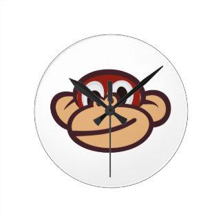 猿の顔 ラウンド壁時計