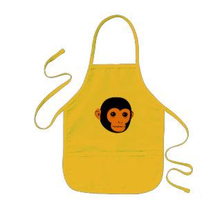 猿の顔 子供用エプロン