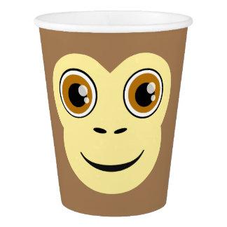 猿の顔 紙コップ