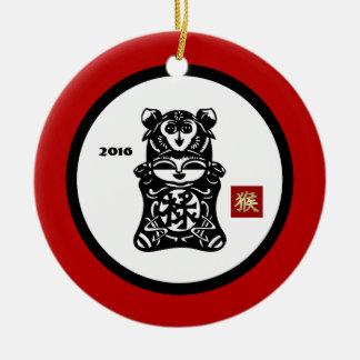 猿の2016年のギフトのオーナメントの中国のな年 セラミックオーナメント