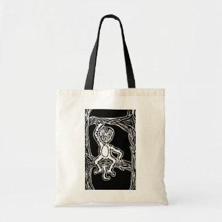 猿のwoodprint トートバッグ