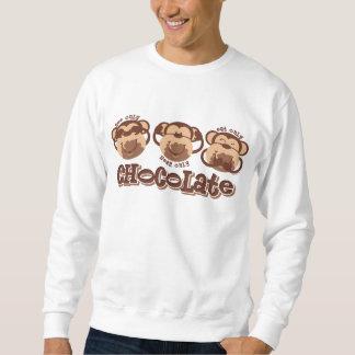 猿はチョコレートを見ます スウェットシャツ
