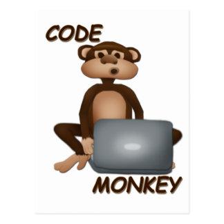 猿をコードして下さい ポストカード