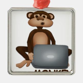 猿をコードして下さい メタルオーナメント
