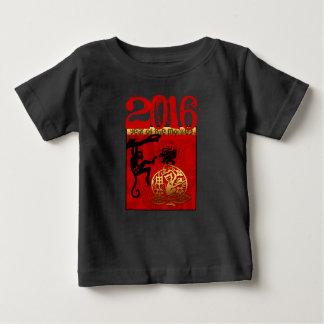 猿年カスタムな年のベビーのティーで生まれて下さい ベビーTシャツ