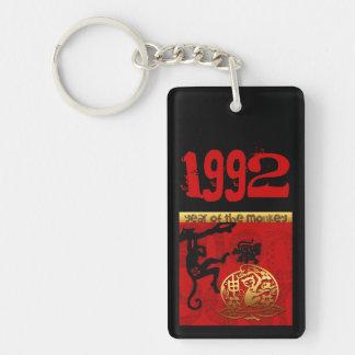 猿年1992年に-名前入りなモノグラム生まれて下さい キーホルダー