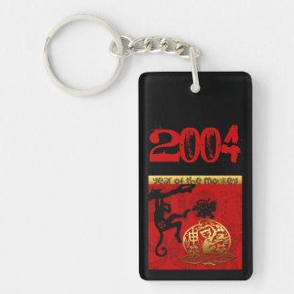 猿年2004年に-名前入りなモノグラム生まれて下さい キーホルダー