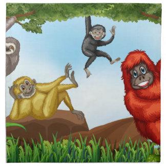 猿 ナプキンクロス