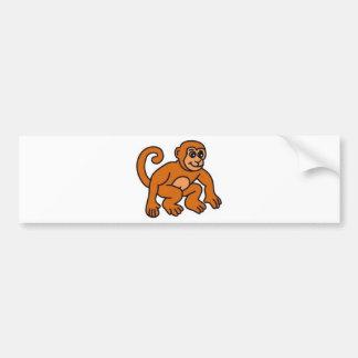 猿 バンパーステッカー
