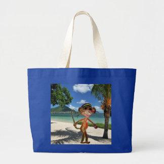 猿|ビーチ|ハンドバッグ キャンバスバッグ