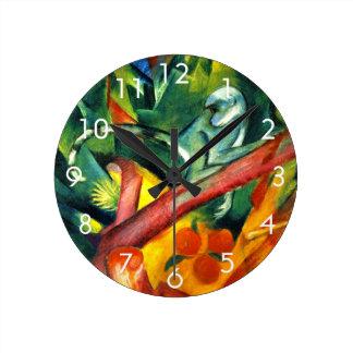 猿 ラウンド壁時計