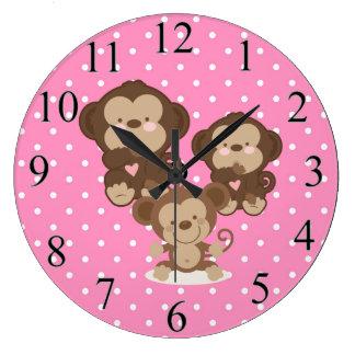 猿 ラージ壁時計