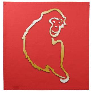 猿(中国のな(占星術の)十二宮図)の年 ナプキンクロス