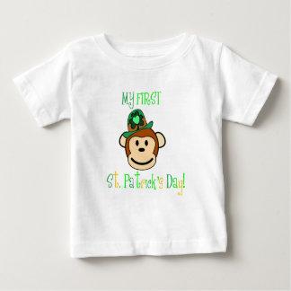 猿-私の最初セントパトリックの日 ベビーTシャツ