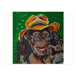 猿-紳士 ポストカード