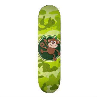猿; 若草色の迷彩柄、カムフラージュ スケートボード