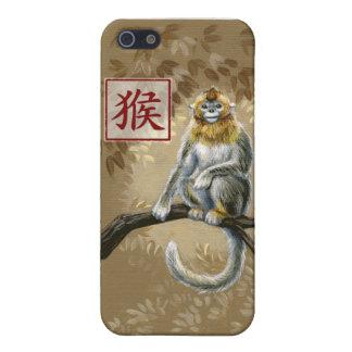 猿iPhone4の例の中国のな(占星術の)十二宮図年 iPhone SE/5/5sケース