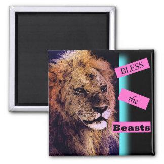 獣のライオンの磁石を賛美して下さい マグネット